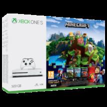 Microsoft Xbox One S 500GB + Minecraft (White)