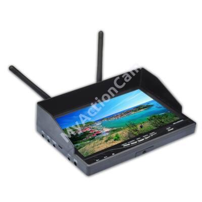 """Boscam 5,8Ghz  7"""" LCD monitor + ajándék 220V adapter és árnyékoló"""