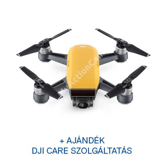 DJI SPARK drón (Sunrise Yellow) + ajándék Remote + ajándék Care Refresh