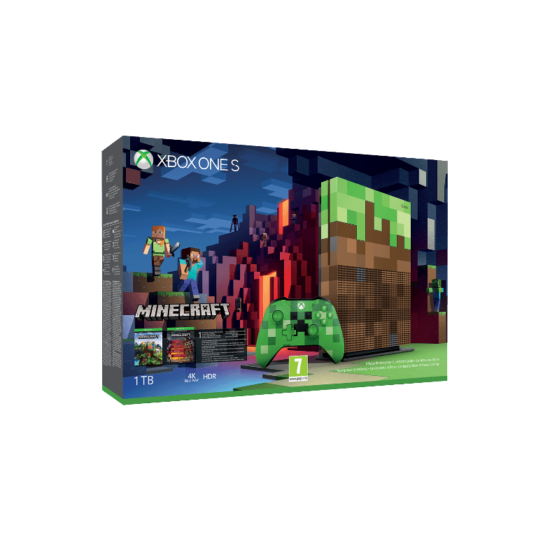 Microsoft Xbox One S 1TB Minecraft bundle Limited Edition