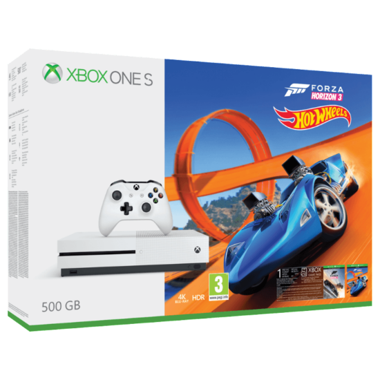 Microsoft Xbox One S 500GB+Forza Horizon 3+Hot Wheels DLC