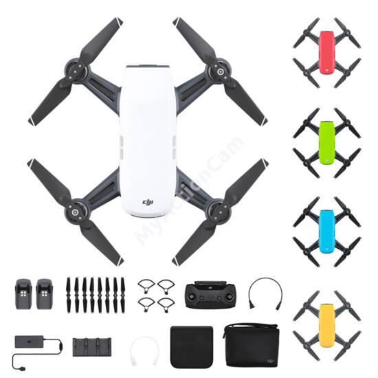 DJI SPARK Fly More Combo drón (Sky Blue) + ajándék 32GB microSD