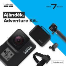GoPro Hero7 Black + ajándék Adventure Kit