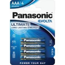 Panasonic EVOLTA AAA mikro 1.5V szupertartós alkáli elemcsomag LR03EGE-4BP