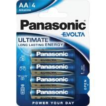 Panasonic EVOLTA AA ceruza 1.5V szupertartós alkáli elemcsomag LR6EGE-4BP