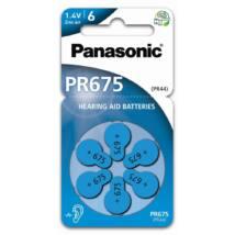 Panasonic PR675/6LB cink-levegő elem, PR44 (6 db / bliszter)