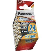 Panasonic Pro Power AAA mikro 1.5V szupertartós alkáli elemcsomag LR03PPG-24PT