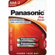 Panasonic Pro Power AAA mikro 1.5V szupertartós alkáli elemcsomag LR03PPG-2BP