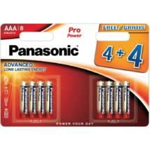 Panasonic Pro Power AAA mikro 1.5V szupertartós alkáli elemcsomag LR03PPG-8BW
