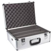 Dörr 305 V1 - video alukoffer, ezüst + előmetszett szivacsbetét
