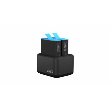 GoPro kettős akkumulátortöltő + akkumulátor (HERO9 fekete)