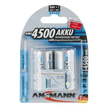 ANSMANN MaxE C 4500mAh Ni-MH alacsony önkisülésű akkumulátor 2db/csomag