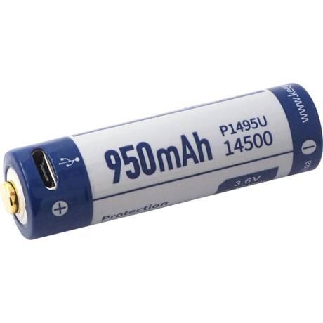 KeepPower 14500/AA 3,6V 950mAh védett Li-ion akkumulátor USB