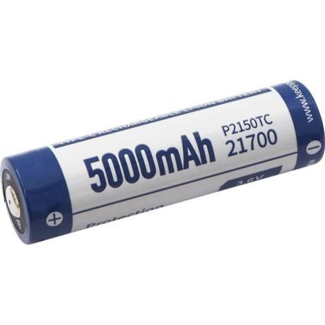 KeepPower 21700 3,7V 5000mAh védett Li-ion akkumulátor USB