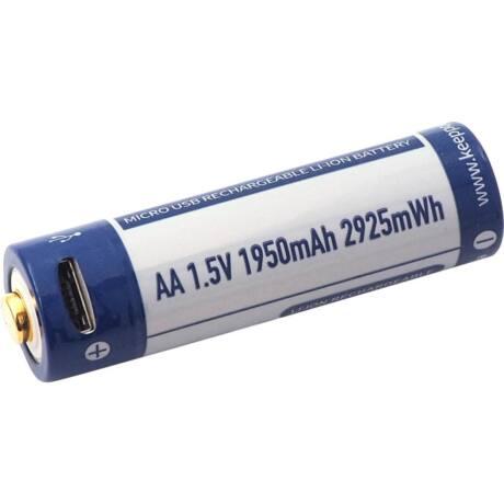 KeepPower AA 1,5V 1950mAh védett Li-ion akkumulátor USB