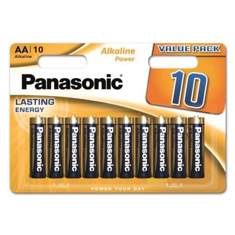 Panasonic Alkaline Power AA ceruza 1.5V alkáli/tartós elemcsomag LR6APB-10BW