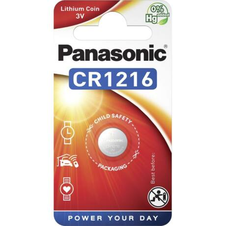 Panasonic CR1216EL/1B lítium gombelem (1 db/bliszter)