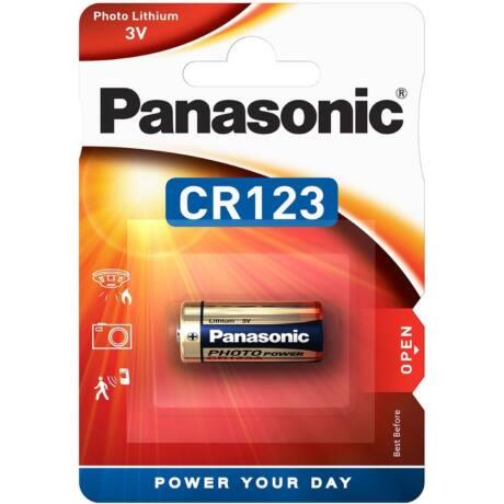 Panasonic CR123A lítium fotóelem (1db / bliszter)
