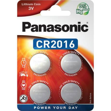 Panasonic CR2016EL/4B lítium gombelem (4db / bliszter)