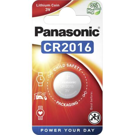 Panasonic CR2016/1B lítium gombelem (1db / bliszter)