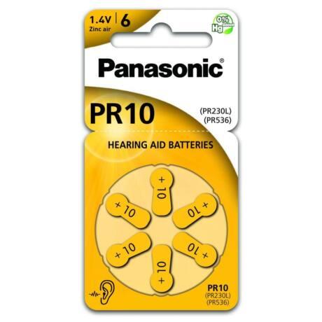 Panasonic PR10L/6LB cink-levegő elem, PR230/PR536 (6 db / bliszter)