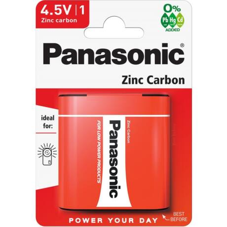 Panasonic Red Zinc 4.5V lapos cink-mangán tartóselem