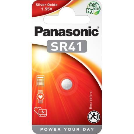 Panasonic SR41EL/1B ezüst-oxid gombelem 392  (1db / bliszter)