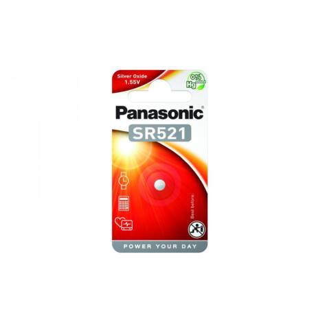 Panasonic SR-521EL/1B ezüst-oxid óraelem (1 db / bliszter)