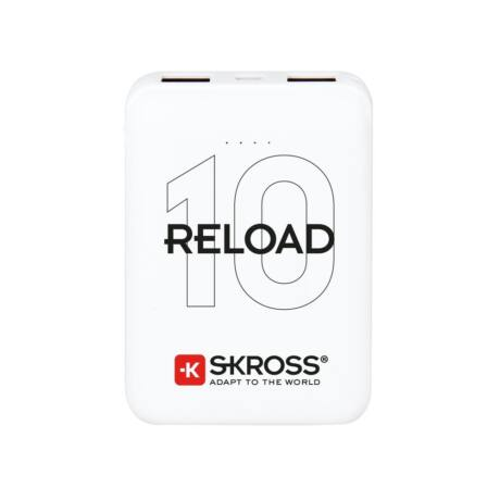 SKROSS Reload10 10Ah power bank USB/microUSB kábellel, két kimenettel