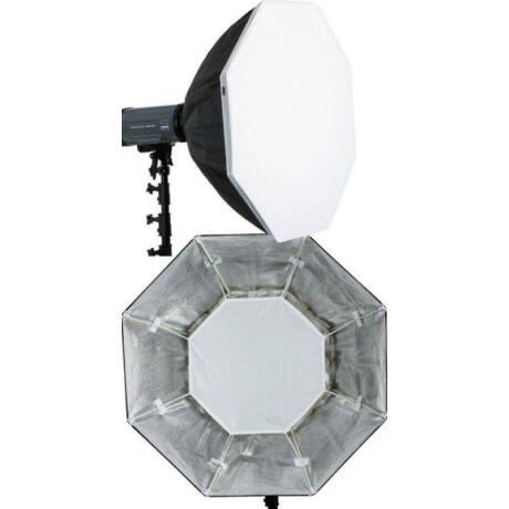 Dörr QFOC-110 nyolcszögletű softbox Quick-Fix rendszerrel, DE/DPS vakukhoz, 110 cm