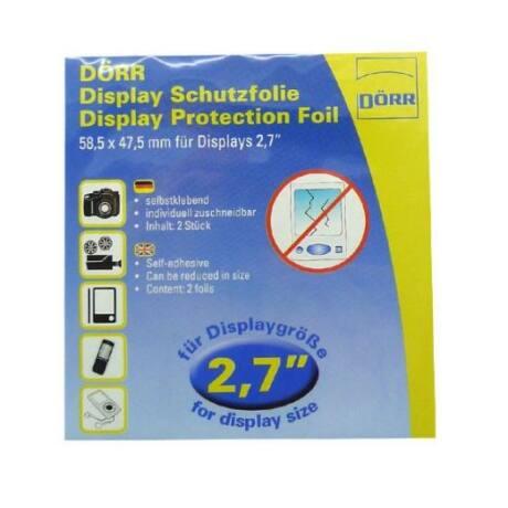 Dörr LCD-védő fólia (2db) 2,7 inch