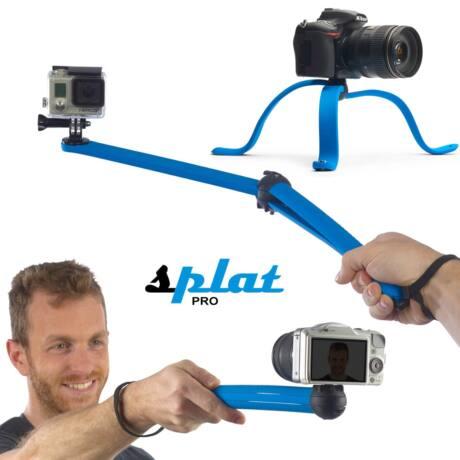Miggö Splat Flexible hajlítható lábú miniállvány, DSLR és akció kamerákhoz, kék