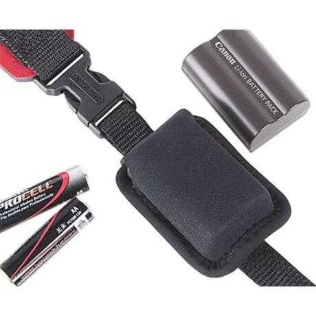 OpTech USA Battery Holster szíjra fűzhető akkumulátor tok, fekete