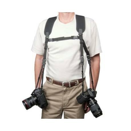 OpTech USA Dual Harness dupla hám, normál hossz, fekete