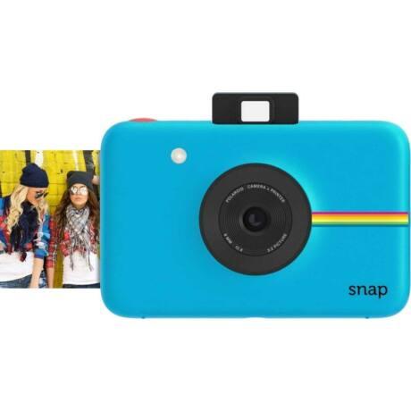 Polaroid Snap instant fényképezőgép és fotónyomtató, 10 darab Matricás Fotópapír, kék