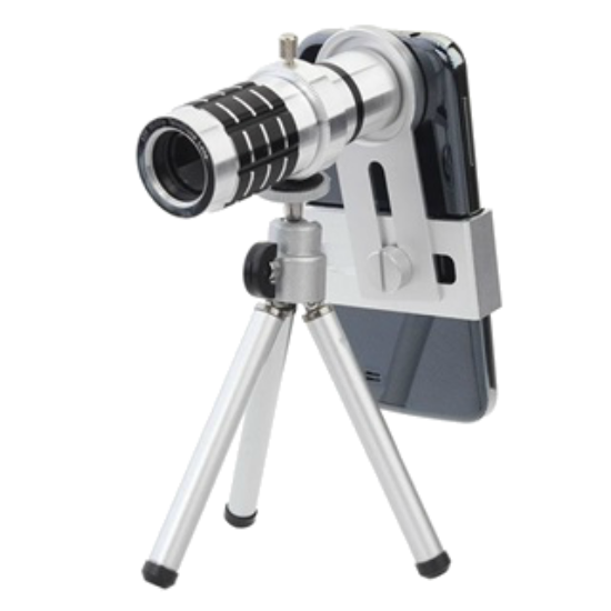 Quazar Univerzális teleobjektív okostelefonokhoz 12x-es zoommal