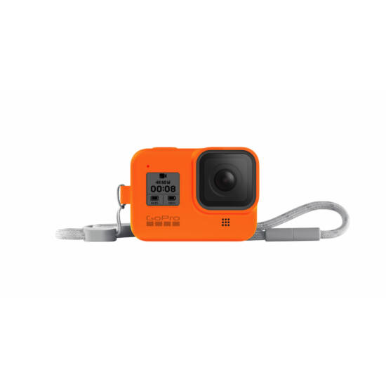 GoPro Sleeve + Lanyard (Hero8 Black) - Hyper Orange