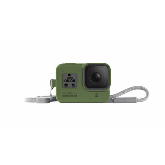 GoPro Sleeve + Lanyard (Hero8 Black) - Turtle Green