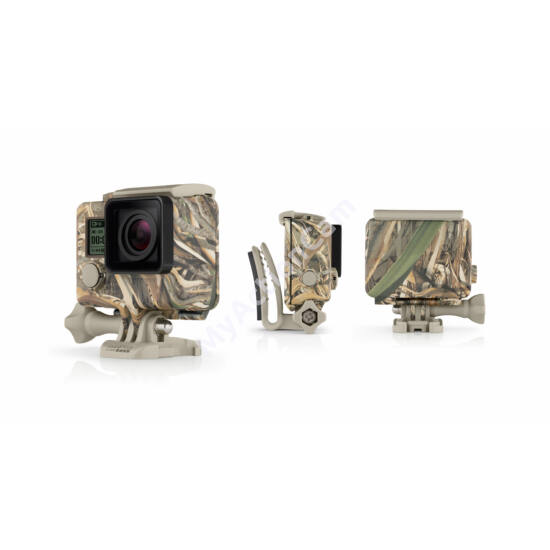 GoPro Hero3/3+/4 Camo Housing + QuickClip (Realtree MAX-5)