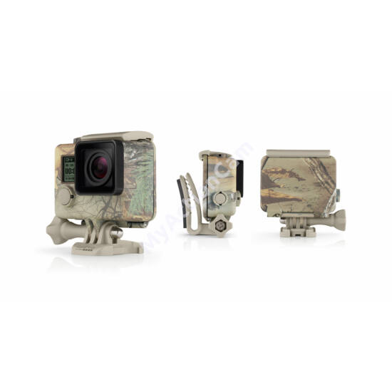GoPro Hero3/3+/4 Camo Housing + QuickClip (Realtree XTRA)